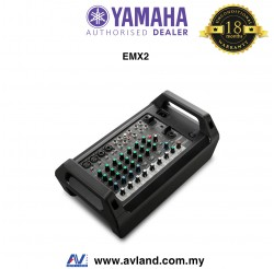 Yamaha EMX2 10-Input Powered Mixer with Dual 250 Watt Amp (EMX2-RK )