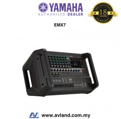 Yamaha EMX7 12-Input Powered Mixer with Dual 710 Watt Amp (EMX7-RK )