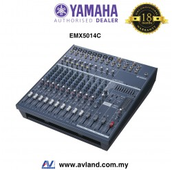 Yamaha EMX5014C 14-Input Powered Mixer with Dual 500 Watt Amp (EMX-5014C)
