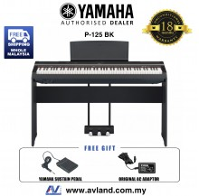 Yamaha P-125 88-Keys Digital Piano Black (P125 / P 125)