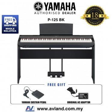 Yamaha P-125 88-Keys Digital Piano Black (P125 / P 125)