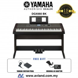 Yamaha DGX-660 Digital Piano Black (DGX660 / DGX 660)