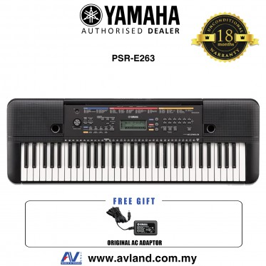Yamaha Keyboards PSR-E263 61-Keys Portable Keyboard (PSRE263 / PSR E263) *Crazy Sales Promotion*
