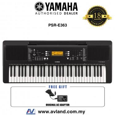 Yamaha Keyboards PSR-E363 61-Keys Portable Keyboard (PSRE363 / PSR E363) *Crazy Sales Promotion*