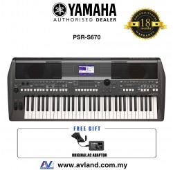 Yamaha PSR-S670 61-key Arranger Workstation (PSRS670 / PSR S670)