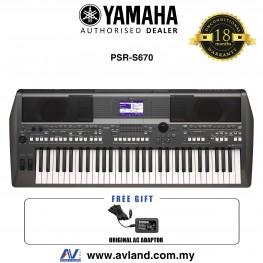 Yamaha PSR-S670 61-key Arranger Workstation (PSRS670 / PSR S670)