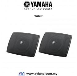 Yamaha VXS3F VXS Series Compact Surface Mount Speaker - Black Pair (VXS-3F)