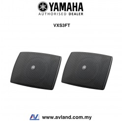Yamaha VXS3FT VXS Series Compact Surface Mount Speaker - Black Pair (VXS-3FT)