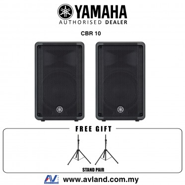 Yamaha CBR10 700-Watt 10 inch Passive Speaker with Stand - Pair (CBR-10/CBR 10) *Crazy Sales Promotion*