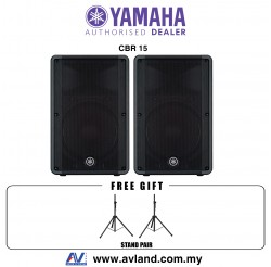 "Yamaha CBR15 15"" 2-Way Passive Loudspeaker With Stand Pair (CBR-15)"