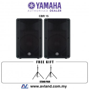 Yamaha CBR15 15-Inch 2-Way Passive Loudspeaker with Stand - Pair (CBR-15) * Crazy Sales Promotion *