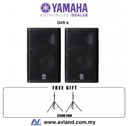 "Yamaha DXR8 8"" DXR Series Active Speaker With Stand Pair (DXR-8)"
