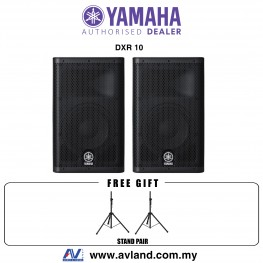 "Yamaha DXR10 10"" DXR Series Active Speaker With Stand Pair (DXR-10)"
