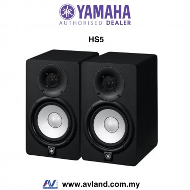 Yamaha HS5 5-Inch Powered Studio Monitor Speaker - Black Pair (HS-5)