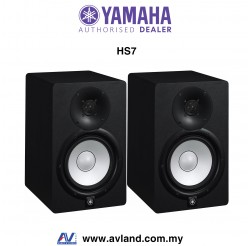 Yamaha HS7 6.5-Inch Powered Studio Monitor - Black Pair (HS-7)
