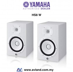 Yamaha HS8 8-Inch Powered Studio Monitor Speaker - White Pair (HS-8 W)