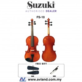 Suzuki Nagoya FS-10 4/4 Full Size Violin With Case, Rosin & Bow (FS10)