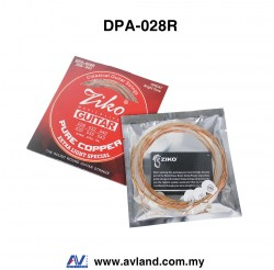 Ziko DPA-028R Classical Guitar Strings Clear Nylon Silver,Phosphor Bronze,Pure Copper (DPA028R)