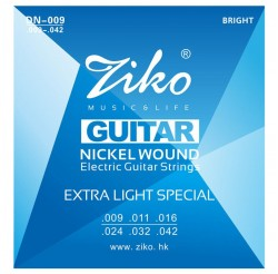 Ziko DN-009 Electric Guitar Strings Nickel Wound Hexagon Alloy Core (DN-009)