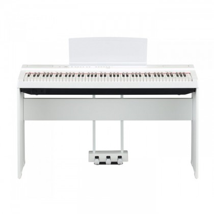 Yamaha P-125 88-Keys Digital Piano White with Keyboard Bench (P125 / P 125)