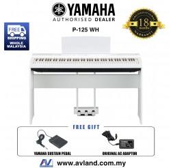 Yamaha P-125 88-Keys Digital Piano White (P125 / P 125)