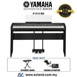 Yamaha P-515 88-Keys Digital Piano Black (P515 / P 515) *ETA: June/July 2020*