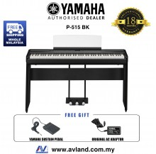 Yamaha P-515 88-Keys Digital Piano Black (P515 / P 515)
