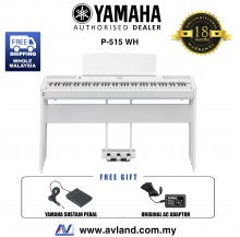 Yamaha P-515 88-Keys Digital Piano White (P515 / P 515)