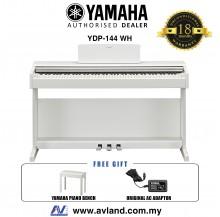 Yamaha Arius YDP-144 88-Keys Digital Piano with Piano Bench - White (YDP144 / YDP 144)