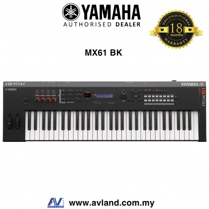 Yamaha MX-61 61-Key Synthesizer - Black (MX61 / MX 61)
