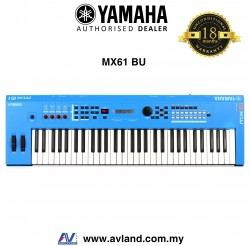 Yamaha MX-61 61-Key Synthesizer - Blue (MX61 / MX 61)