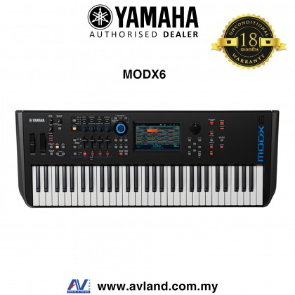 Yamaha MODX6 61-Key Synthesizer (MODX 6/MODX-6)