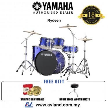 "Yamaha Rydeen 5-Piece Drum Set with SABIAN Cymbal Set and Hardware - 22"" Kick - Fine Blue *Crazy Sales Promotion*"