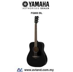 Yamaha FG800 Solid Spruce Top Folk Acoustic Guitar-Black (FG-800)