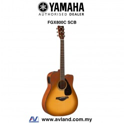 Yamaha FGX800C Dreadnought Cutaway Acoustic-Electric Guitar - Sand Burst (FGX-800C)