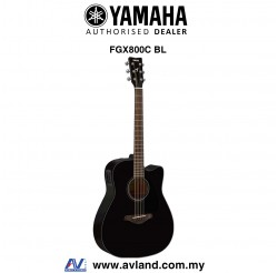 Yamaha FGX800C Dreadnought Cutaway Acoustic-Electric Guitar - Black (FGX-800C)