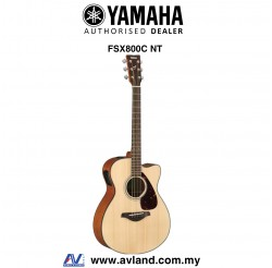 Yamaha FSX800C Concert Cutaway Acoustic-Electric Guitar-Natural (FSX-800C)