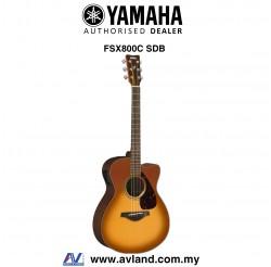 Yamaha FSX800C Concert Cutaway Acoustic-Electric Guitar -Sand Burst (FSX-800C)