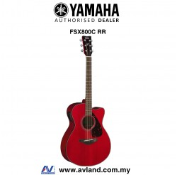 Yamaha FSX800C Concert Cutaway Acoustic-Electric Guitar-Ruby Red (FSX-800C)