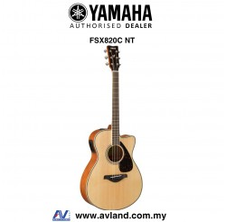 Yamaha FSX820C Concert Cutaway Acoustic-Electric Guitar-Natural (FSX-820C)