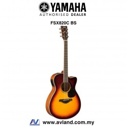 Yamaha FSX820C Concert Cutaway Acoustic-Electric Guitar-Brown Sunburst (FSX-820C)