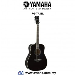 Yamaha FG-TA TransAcoustic Dreadnought Acoustic-Electric Guitar - Black (FGTA)