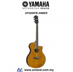 Yamaha APX600FM Flame Maple Top Acoustic-Electric Guitar - Amber (APX-600FM)