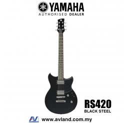Yamaha Revstar RS420 Electric Guitar - Black Steel (RS 420/RS-420)