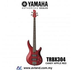 Yamaha TRBX304 4-string Electric Bass Guitar - Candy Apple Red (TRBX 304/TRBX-304)