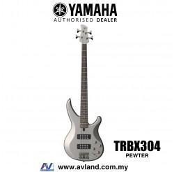 Yamaha TRBX304 4-string Electric Bass Guitar - Pewter (TRBX 304/TRBX-304)
