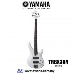 Yamaha TRBX304 4-string Electric Bass Guitar - White (TRBX 304/TRBX-304)