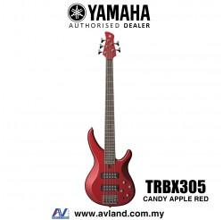 Yamaha TRBX305 5-string Electric Bass Guitar - Candy Apple Red (TRBX 305/TRBX-305)