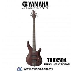 Yamaha TRBX504 4-string Electric Bass Guitar - Translucent Brown (TRBX 504/TRBX-504)