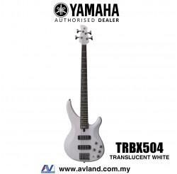 Yamaha TRBX504 4-string Electric Bass Guitar - Translucent White (TRBX 504/TRBX-504)